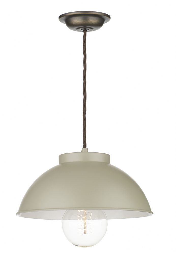 Cotswold 1 Light Pendant French Cream COT012 (Hand made, 7-10 day Delivery)